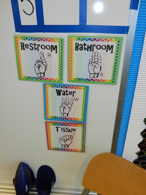 24 7 teacher classroom tour with bright and happy colors for Bathroom signs for classroom