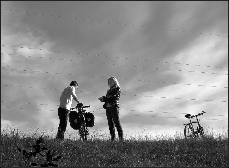 priešvestuvinė fotosesija su dviračiais