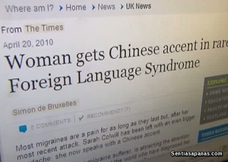 Misteri Foreign Accent Syndrome - Sarah Colwill