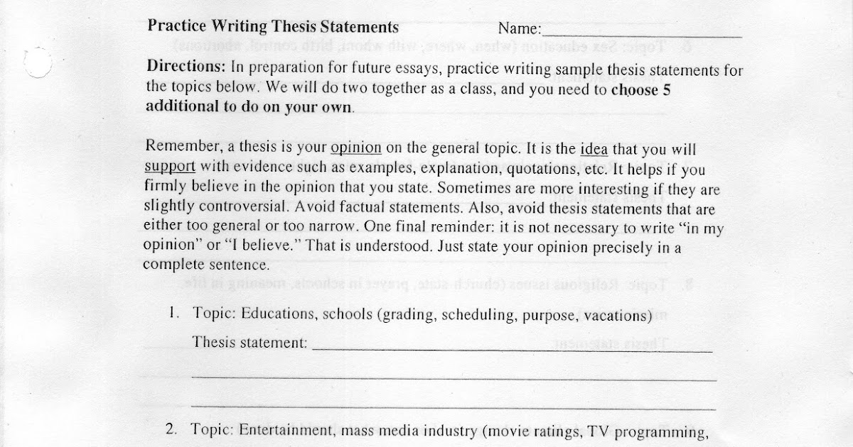 """avoid fallacies thesis statement Avoid burying a great thesis statement in the middle of a paragraph or late in the of your paper but avoid sentence structures like, """"the point of my paper is""""."""