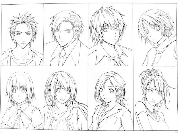 draw manga hair boy anime
