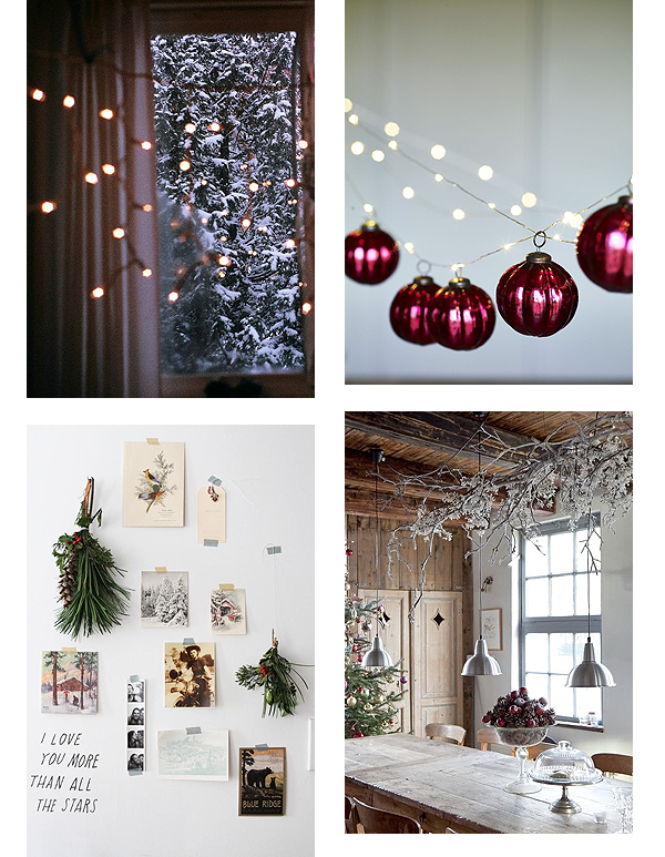 Christmas, Decoration, Lights, Bramble and Thorn, Inspiration, Holly