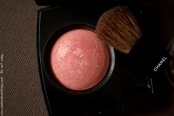 Chanel Joues Contraste Blush In Love 55 Indian Darker Skin Makeup Beauty Blog FOTD Looks Swatches Review Photos