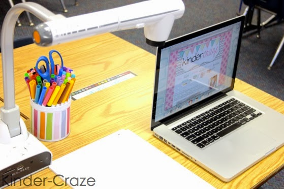 how to create an attractive Teacher's Technology Station in the classroom