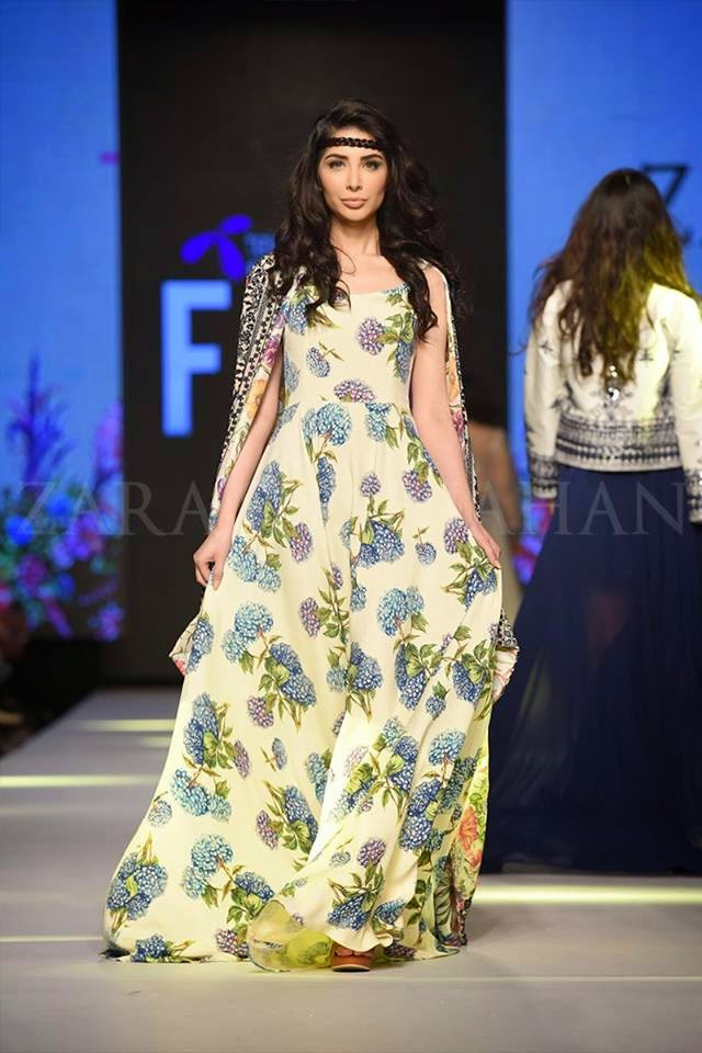 Zara Shahjahan TPFW 2015 summer long dresses