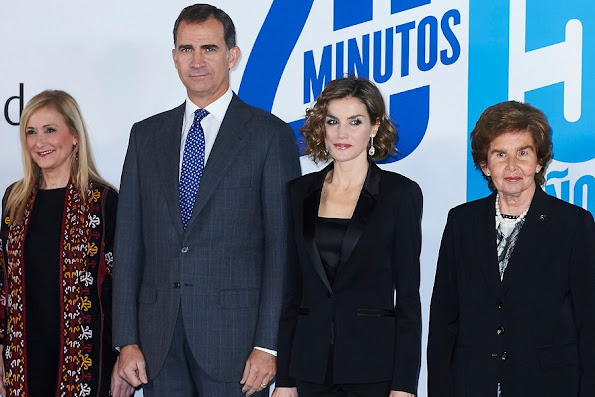 King Felipe of Spain and Queen Letizia of Spain attends '20 Minutos' Newspaper 15th Anniversary Party at Real Casa de Correos