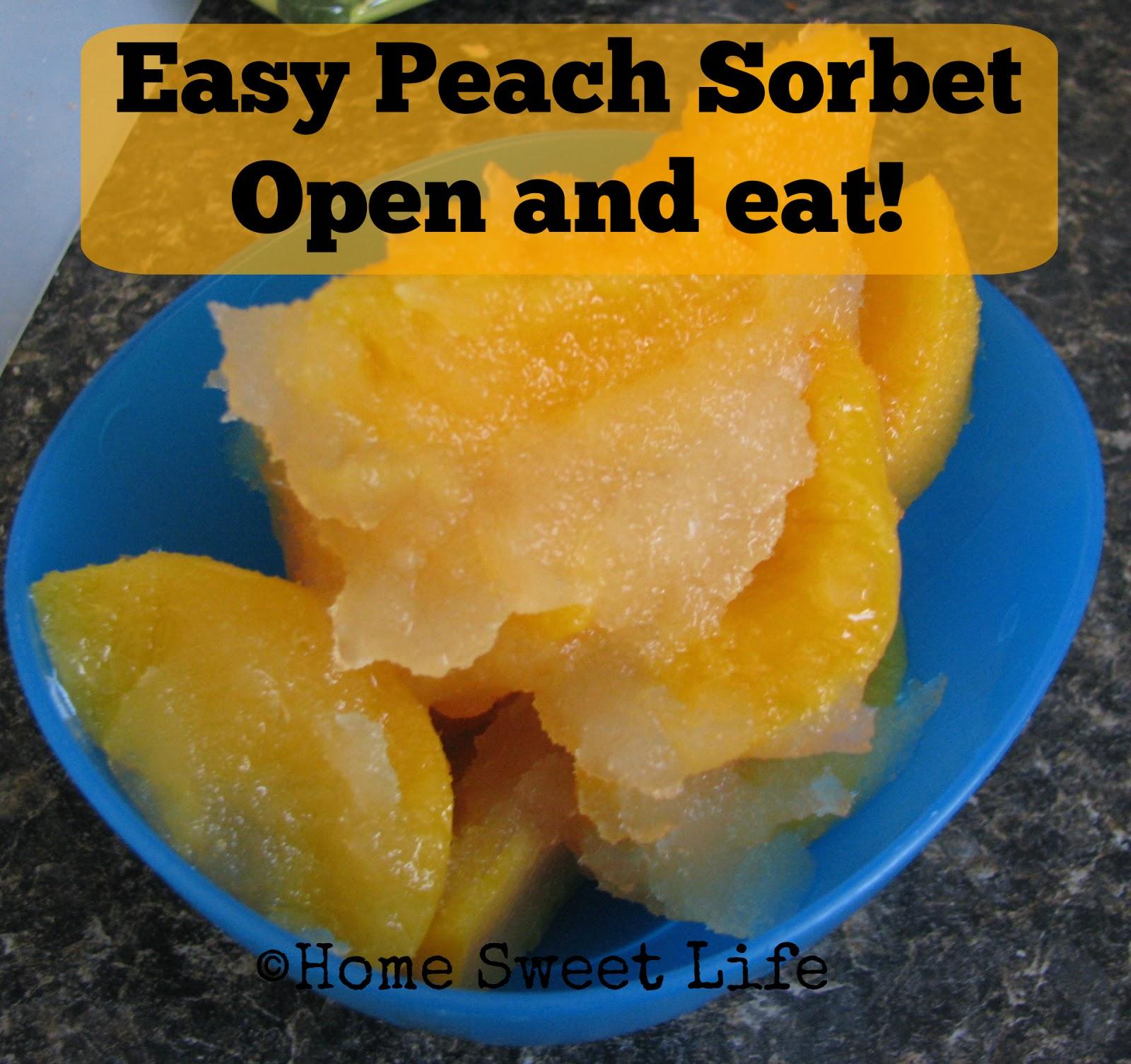 Easy Peach Sorbet