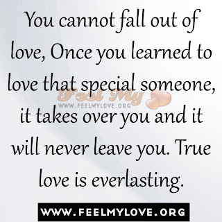 You cannot fall out of love