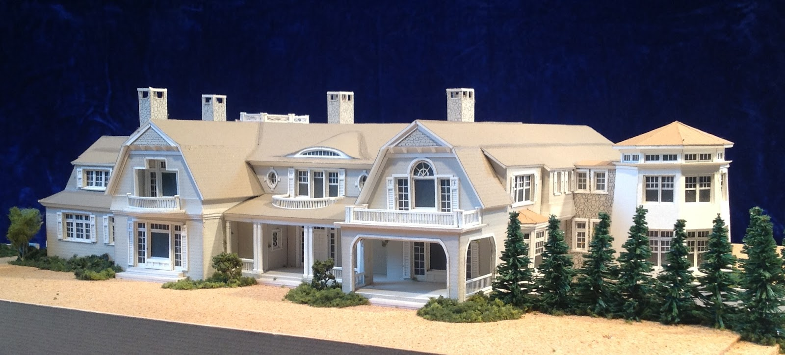 Architectural house models of houses in the hamptons long for Architecture house models