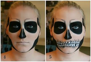 Caras Pintadas para Halloween, Diseño Calavera
