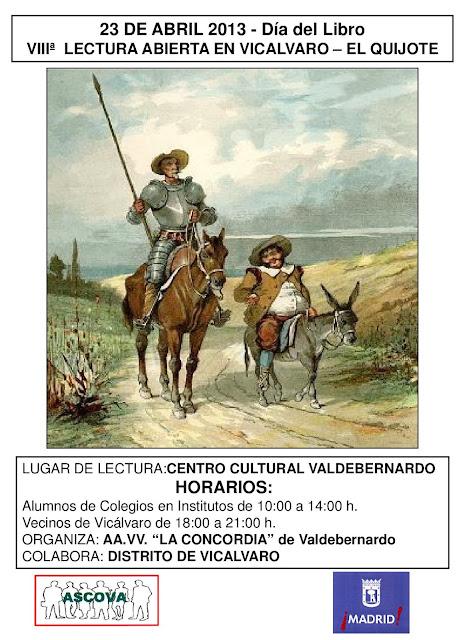 Día del libro 2013 - lectura de El Quijote