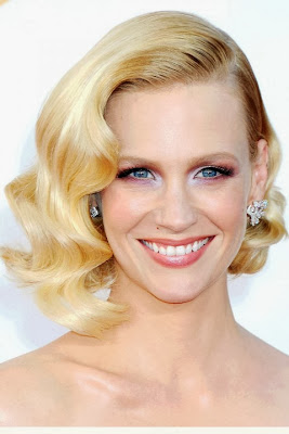 January Jones Casual Short Hairstyle Curly