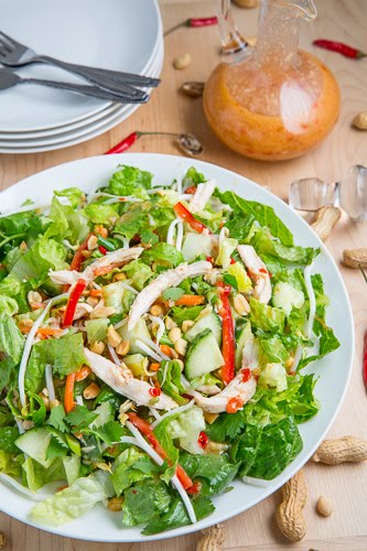 Sweet Chili Chicken Salad on Closet Cooking