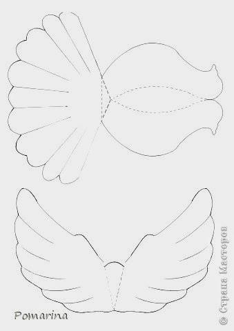 amarna artesanato e imagens pomba de papel com molde