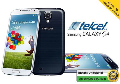 Factory Unlock Code for Samsung Galaxy S4 from Telcel Mexico