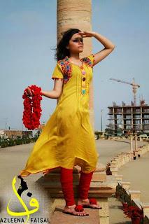 Azleena Faisal New Winter Dresses 2013-2014