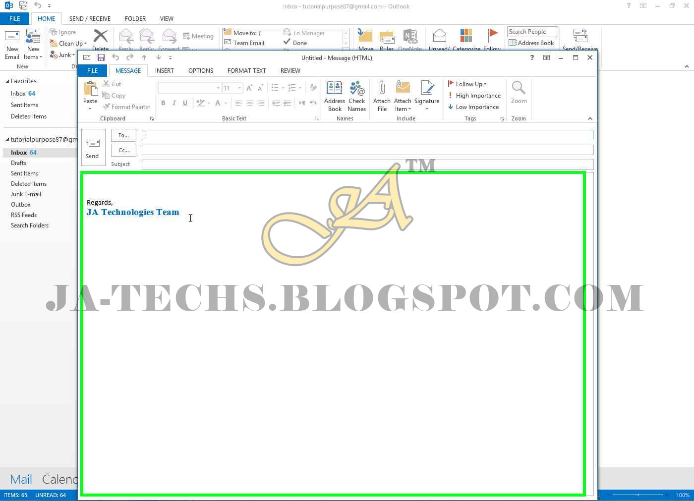how to create signature in outlook 2013
