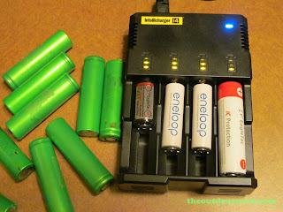 Nitecore Intellicharger I4 With Various Batteries