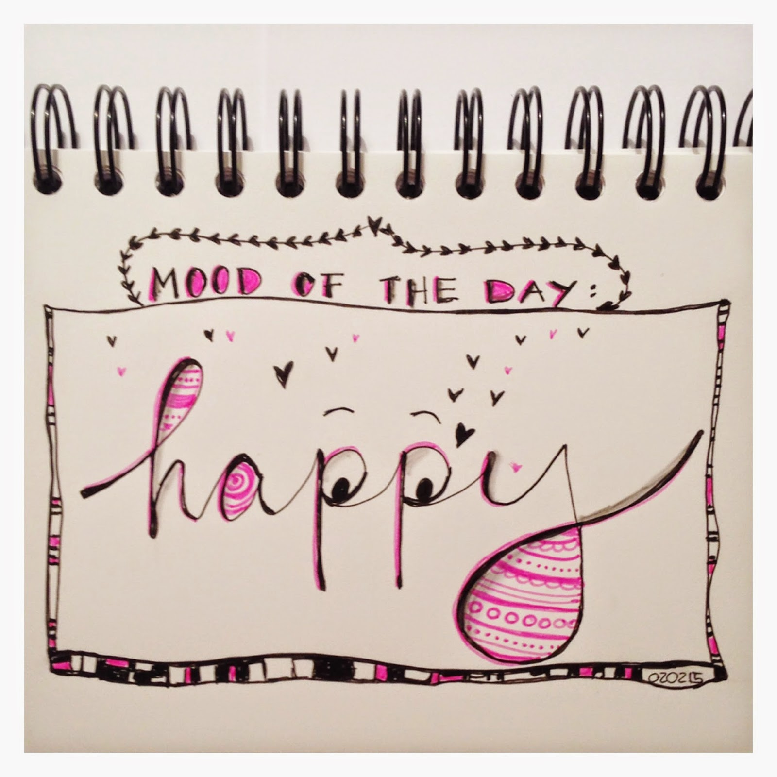 mit Strich und Faden | Mood of the Day - HAPPY - Sketch Doodle