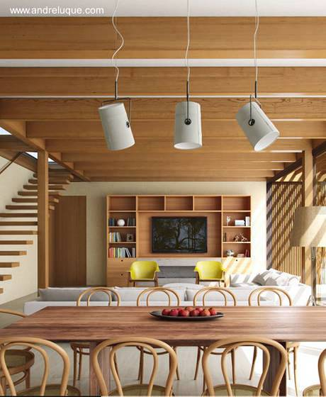 Arquitectura de casas casa de campo de dos pisos de for Modelos de casas de madera de un piso