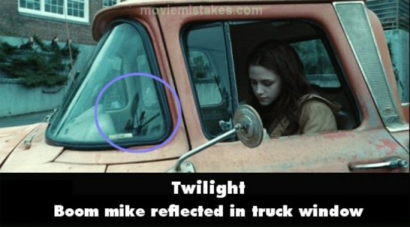Imagenes de los errores en la pelicula Crepusculo (Twilight)