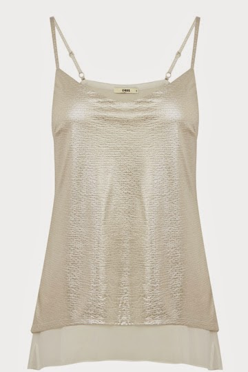 gold cami top