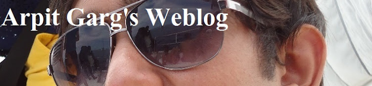Arpit Garg's Weblog