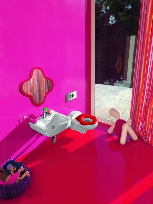 Baños Modernos Ninos:The Baños Y Muebles: Cuarto de baño con Juegos y colorido para