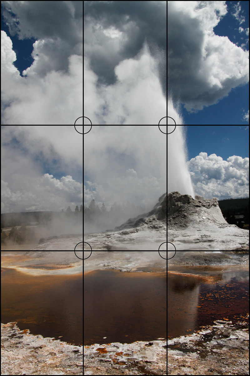 Rule of Thirds - Castle Geyser, Yellowstone | Boost Your Photography