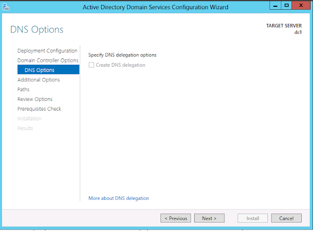 Windows Server 2012 active directory dns option