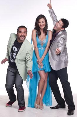 Maju Mantilla con Roger del Aguila y Joselito Carrera