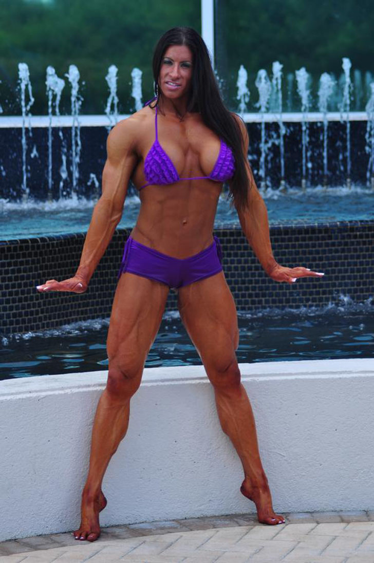 Angela Salvagno Modeling Her Ripped Physique