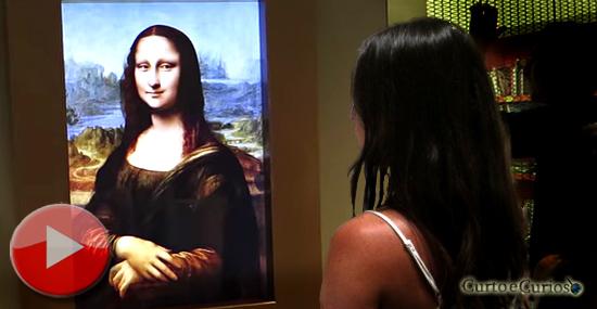Mona Lisa 'viva' que te segue com o olhar