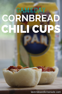 Gameday Cornbread Chili Cups!