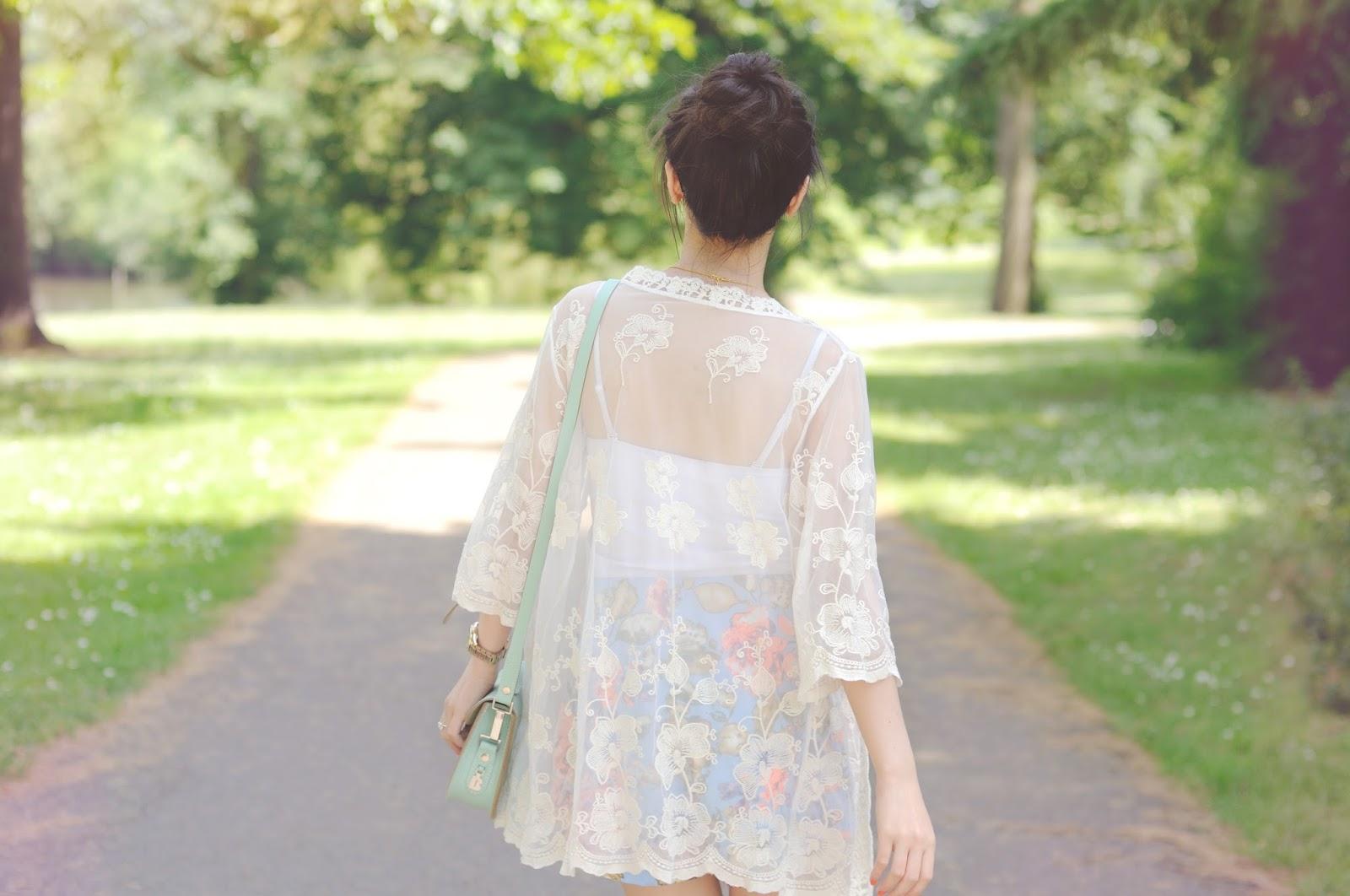 white lace kimono