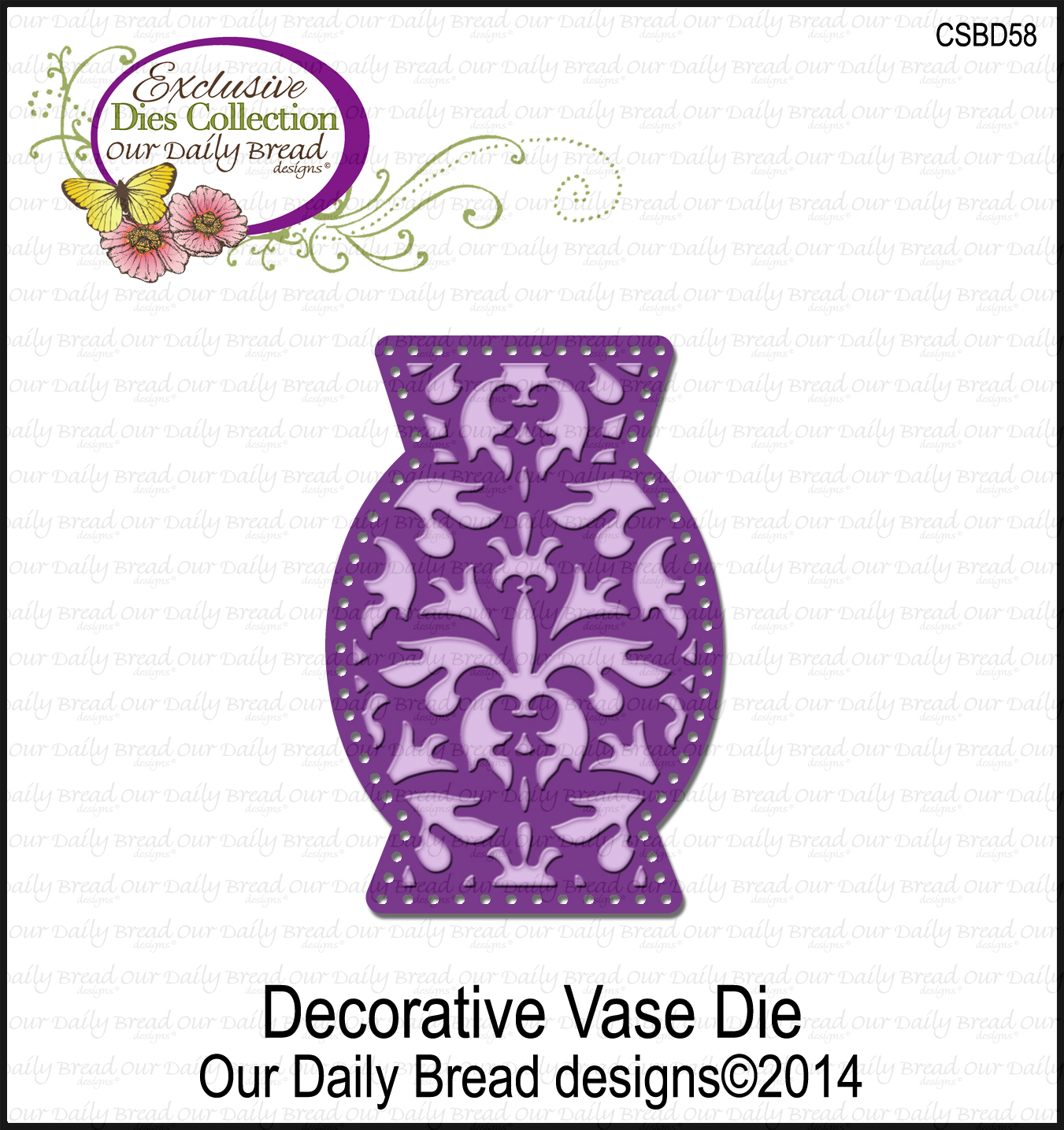 Our Daily Bread Designs Custom Decorative Vase Die