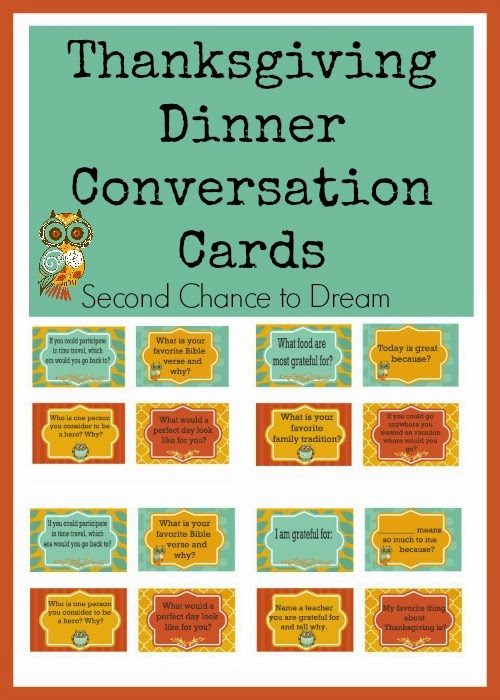 Free Printable Dinner Conversation Starters