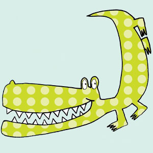 crocodile children's cards liz and pip ltd