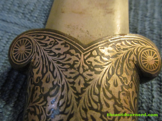 Ceremonial knife from India - Closeup of handle