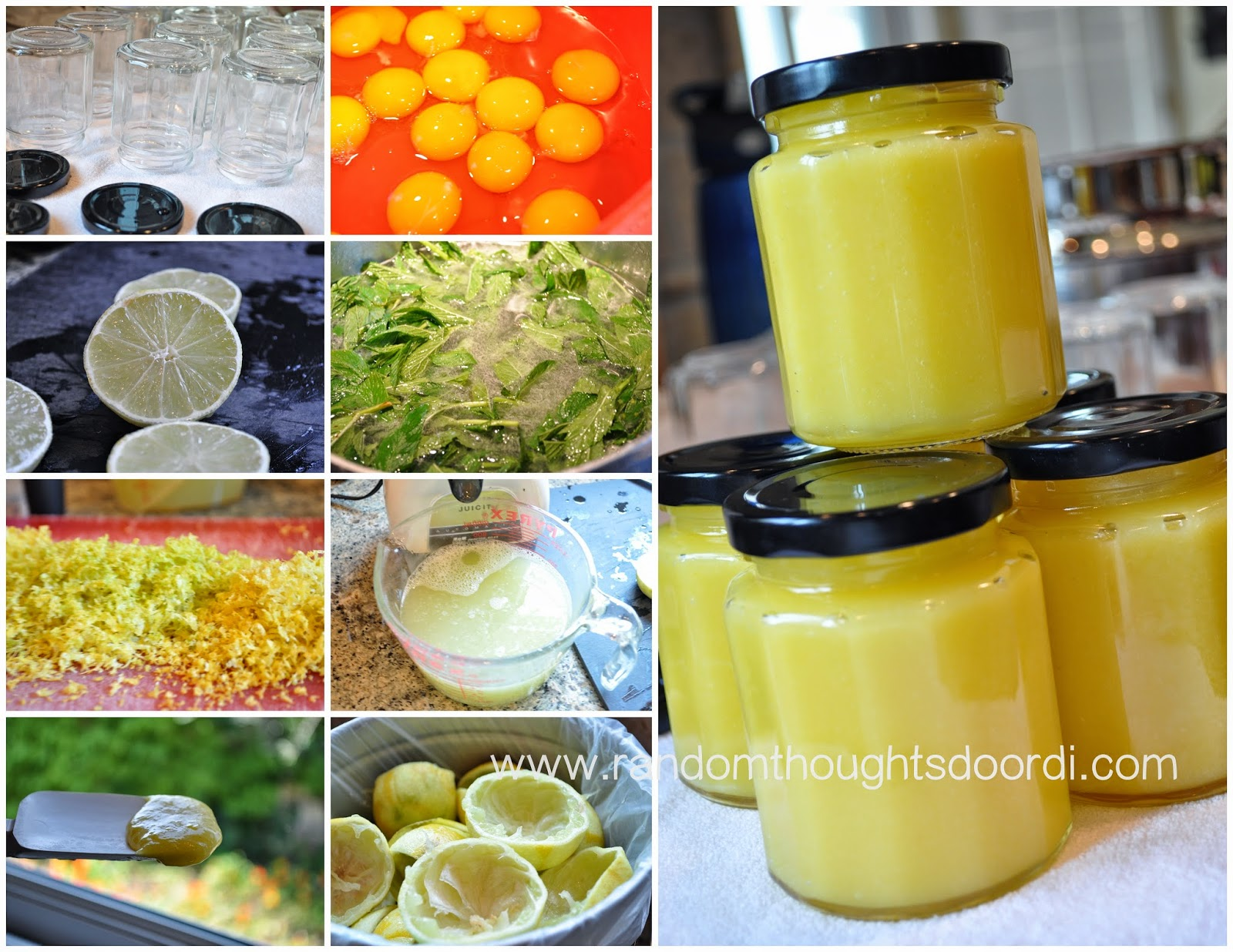 making lime curd