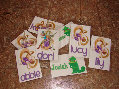 tangled rapunzel gift tags