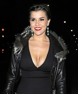 Imogen Thomas sexy cleavage dress
