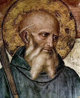 Pintura de San Benito Obra de Fra Angélico