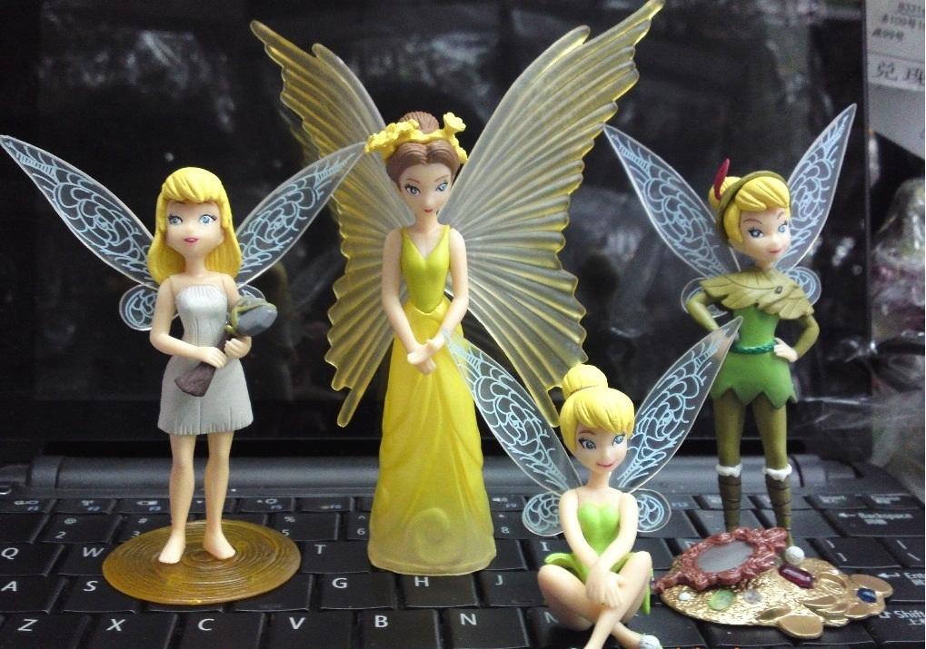 Set of 4 pcs. Tinker Bell Fairies Figures