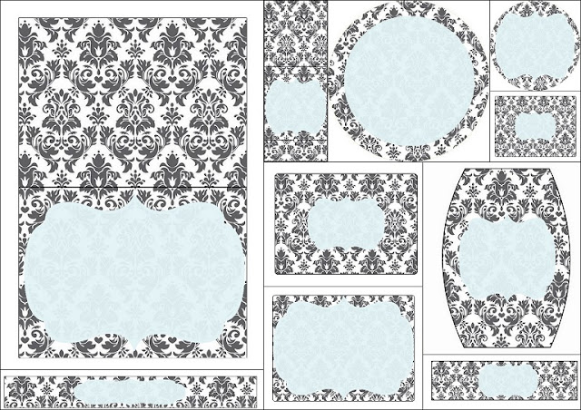 Grey Damasks in Blue: Free Printable Candy Bar Labels.