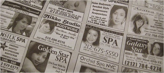 female escorts advertising on Nigerian newspapers