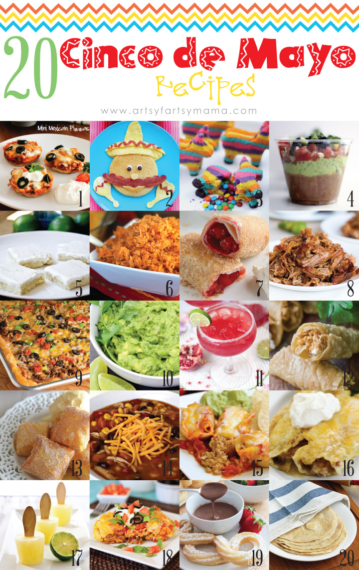 20 Cinco de Mayo Recipes - Everything from Appetizers and Entrees to Dessert! #recipes #mexicanfood #cincodemayo
