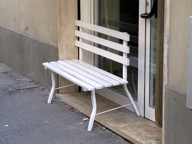 Half inside bench, via Cambini, Livorno