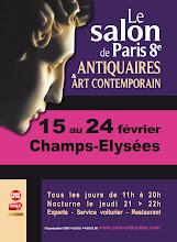 PARIS 8ème-CHAMPS ÉLYSÉES : CAPTON AU 3ème SALON DE PARIS 8ème ANTIQUAIRES ET ART CONTEMPORAIN