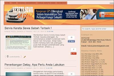 Blog Kereta Sewa Sabah Yang Sistematik
